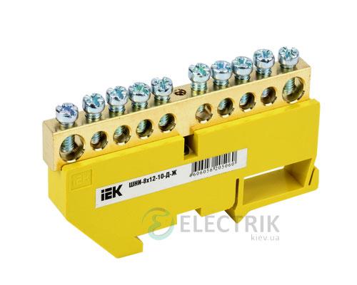 Шина нулевая с DIN-изолятором ШНИ-8x12-10-Д-Ж, IEK