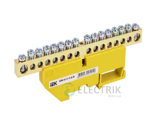 Шина нулевая с DIN-изолятором ШНИ-8x12-16-Д-Ж, IEK