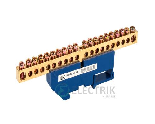 Шина нулевая с DIN-изолятором ШНИ-8x12-20-Д-С, IEK