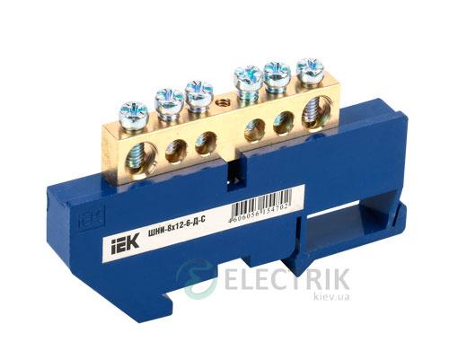 Шина нулевая с DIN-изолятором ШНИ-8x12-6-Д-С, IEK