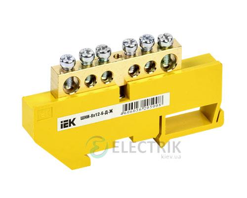 Шина нулевая с DIN-изолятором ШНИ-8x12-6-Д-Ж, IEK