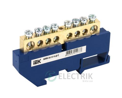 Шина нулевая с DIN-изолятором ШНИ-8x12-8-Д-С, IEK