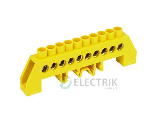 Шина нулевая в комбинированном DIN-изоляторе типа «Стойка» ШНИ-8x12-10-КС-Ж, IEK
