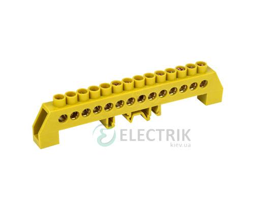 Шина нулевая в комбинированном DIN-изоляторе типа «Стойка» ШНИ-8x12-14-КС-Ж, IEK