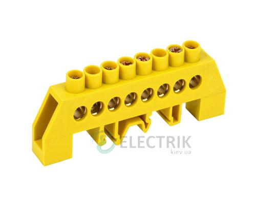 Шина нулевая в комбинированном DIN-изоляторе типа «Стойка» ШНИ-8x12-8-КС-Ж, IEK