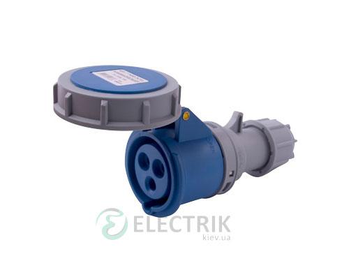 Силовая розетка переносная e.socket.213.16.67 2P+PE 16А 230В IP67, E.NEXT
