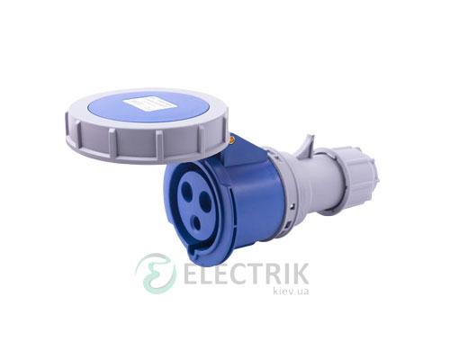 Силовая розетка переносная e.socket.223.32.67 2P+PE 32А 230В IP67, E.NEXT