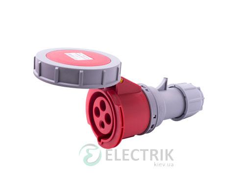 Силовая розетка переносная e.socket.224.32.67 3P+PE 32А 400В IP67, E.NEXT