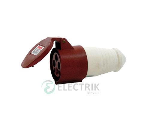 Силовая розетка переносная e.socket.pro.4.16 (214) 3P+PE 16А 380В IP44, E.NEXT
