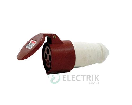 Силовая розетка переносная e.socket.pro.4.32 (224) 3P+PE 32А 380В IP44, E.NEXT