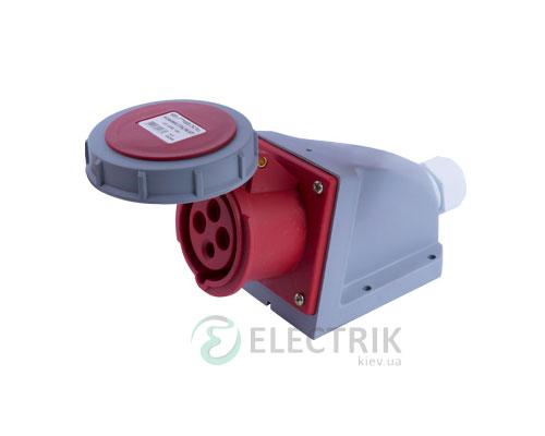 Силовая розетка стационарная e.socket.114.16.67 3P+PE 16А 400В IP67, E.NEXT