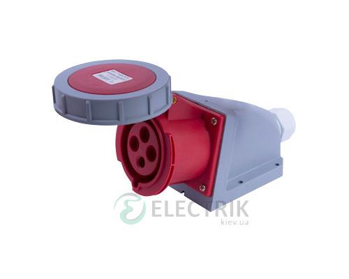 Силовая розетка стационарная e.socket.124.32.67 3P+PE 32А 400В IP67, E.NEXT