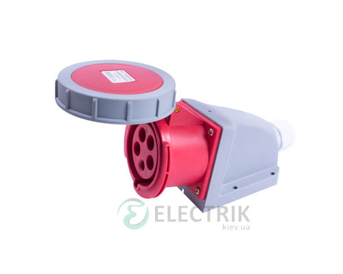 Силовая розетка стационарная e.socket.125.32.67 3P+N+PE 32А 400В IP67, E.NEXT
