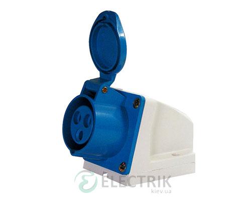 Силовая розетка стационарная e.socket.pro.3.32 (123) 2P+PE 32А 220В IP44, E.NEXT