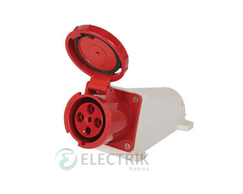 Силовая розетка стационарная e.socket.pro.4.63 (134) 3P+PE 63А 380В IP67, E.NEXT