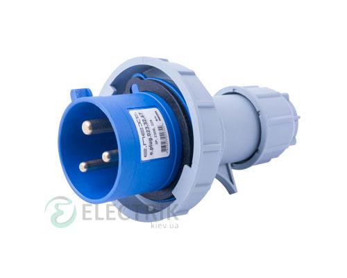 Силовая вилка переносная e.plug.023.32.67 2P+PE 32А 230В IP67, E.NEXT