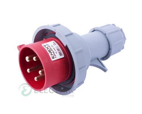 Силовая вилка переносная e.plug.025.32.67 3P+N+PE 32А 400В IP67, E.NEXT