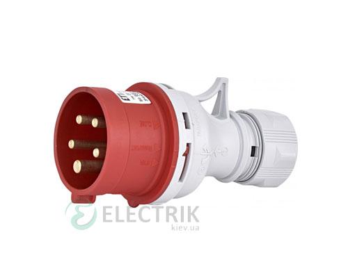 Вилка кабельная EV-1653 IP44 (16A, 400V, 3P+N+PE), ETI (Словения)