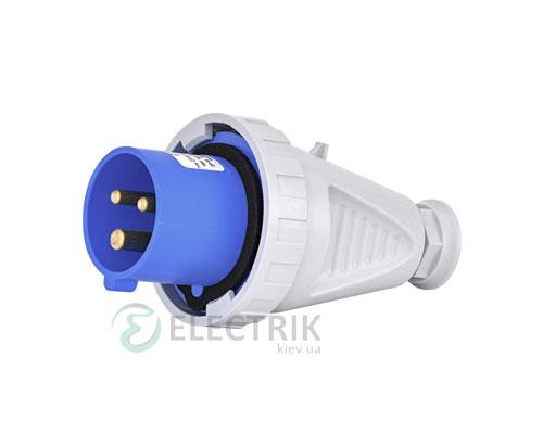 Вилка кабельная EVH-1632 IP67 (16A, 230V, 2P+PE), ETI (Словения)
