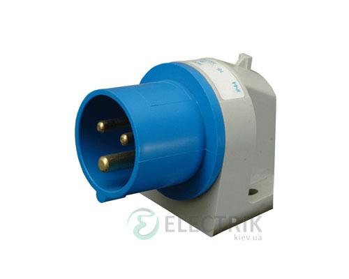 Вилка встраиваемая угловая ER-1632 IP44 (16A, 230V, 2P+PE), ETI (Словения)