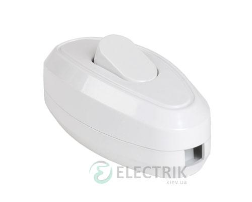 Выключатель одноклавишный разборный для бра белый ВБ-01Б, IEK
