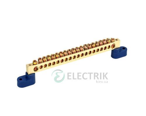 Шина нулевая на двух угловых изоляторах ШНИ-8x12-22-У2-С, IEK