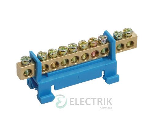 Шина нулевая с DIN-изолятором типа «Стойка» ШНИ-6x9-10-С-С, IEK